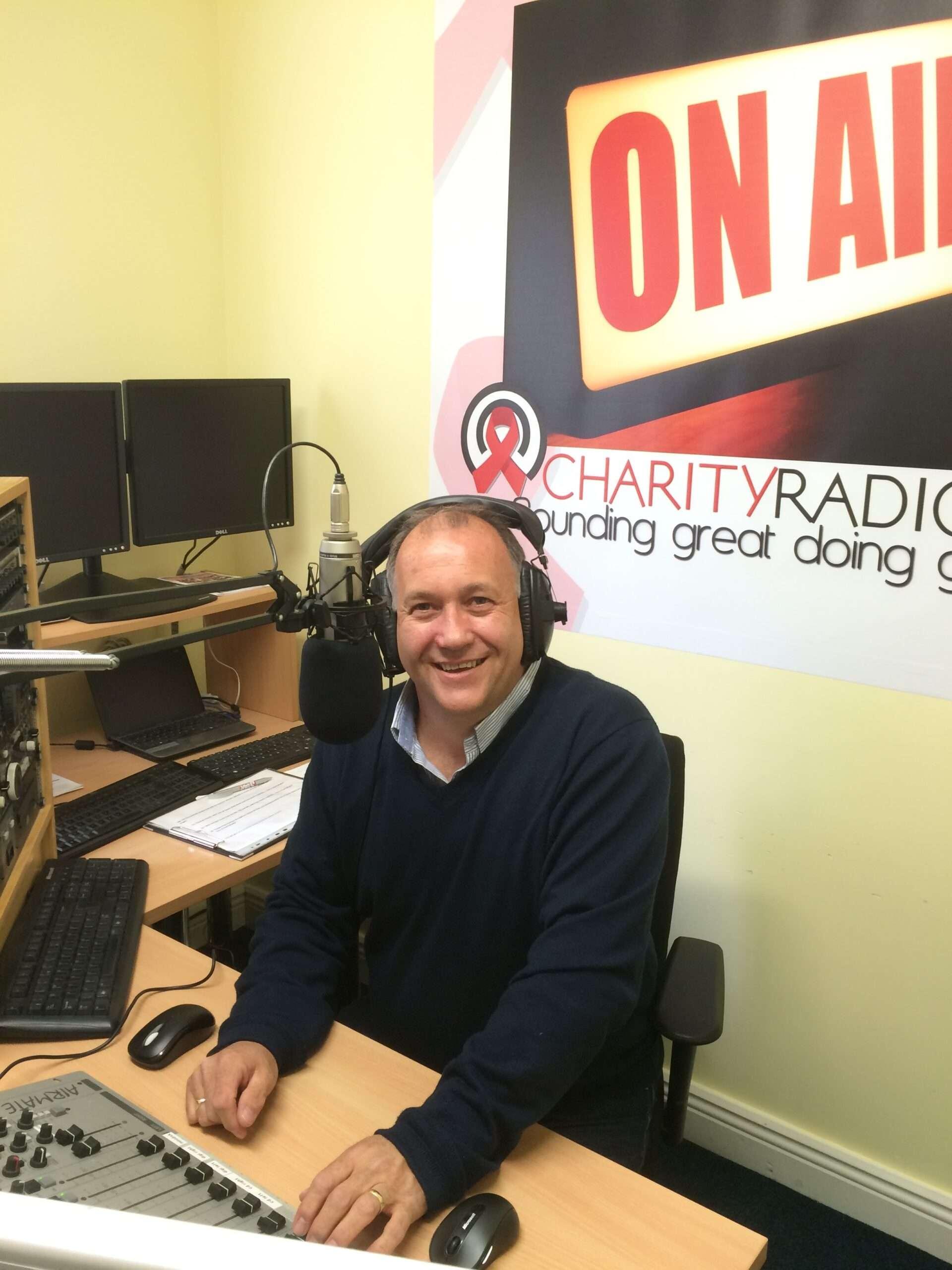Alan Hennessy in Radio Studios